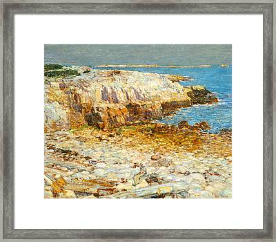 A North East Headland Framed Print by Frederick Childe Hassam