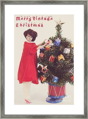 Christs Birthday Framed Print featuring the photograph A Nostalgic Christmas by Carolyn Rauh