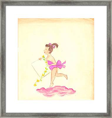A Note From Heaven  Retro Framed Print by Rosalie Scanlon