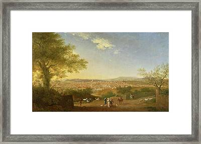 A Panoramic View Of Florence From Bellosguardo Framed Print by Thomas Patch