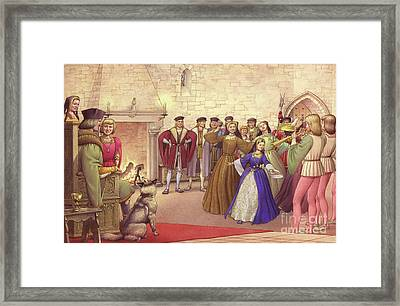 A Party Followed The Arrival Of Catherine Of Aragon In England To Be Married  Framed Print by Pat Nicolle