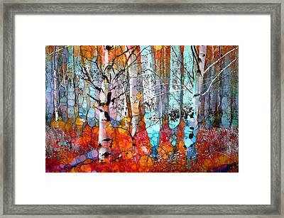 A Party In The Forest Framed Print by Tara Turner