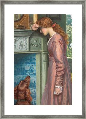 A Passing Cloud Framed Print by Arthur Hughes