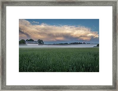 A Passing Spring Storm 2016-2 Framed Print by Thomas Young