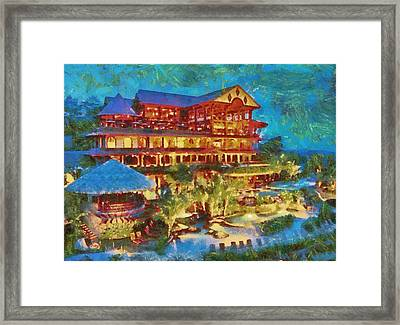 A Passion For Paradise Framed Print by Mario Carini