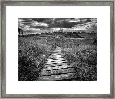 A Path Unwound Framed Print by Josh Eral