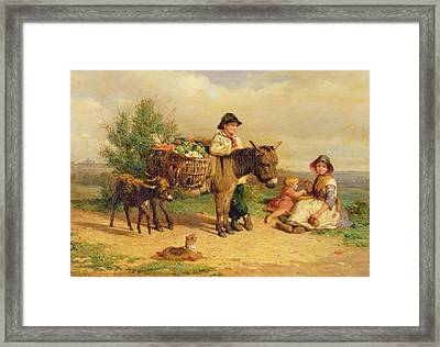 A Pause On The Way To Market Framed Print by J O Bank