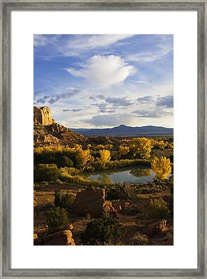 A Peaceful Landscape Stretches Framed Print by Ralph Lee Hopkins