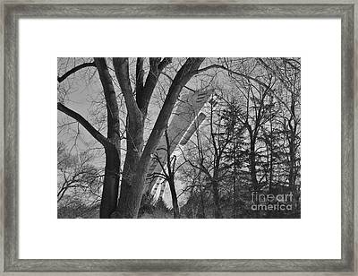 A Peak At The Olympic Stadium Framed Print by Reb Frost