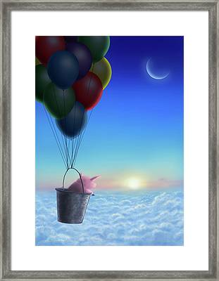 A Pigs Journey Framed Print by A A