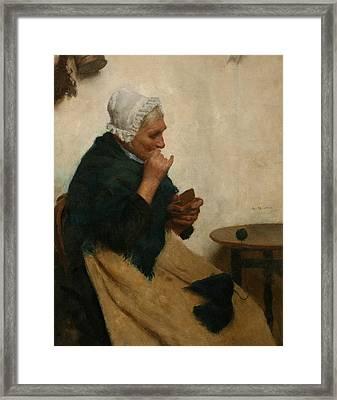 A Pinch Of Snuff  Framed Print by Edwin Harris