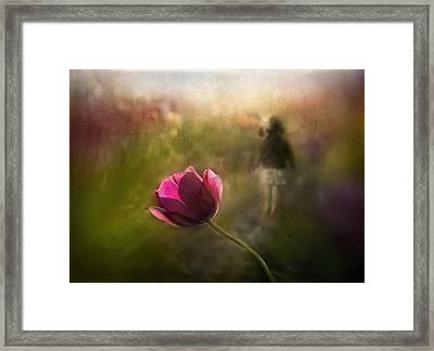 A Pink Childhood Memory Framed Print by Shenshen Dou