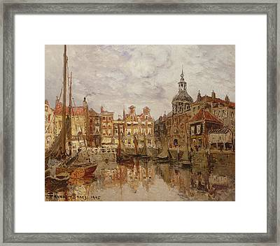 A Port Framed Print by Frank Myers Boggs