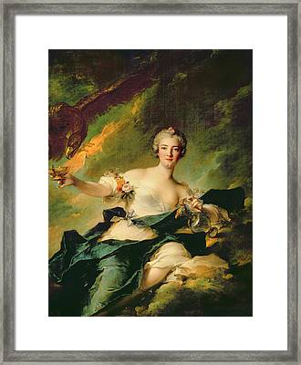 A Portrait Of Anne Josephe Bonnnier De La Mossau  Framed Print by Jean Marc Nattier