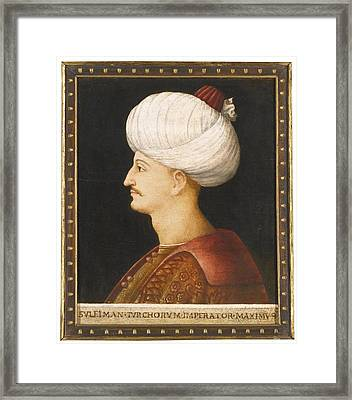 A Portrait Of Suleyman Framed Print by Eastern Accents