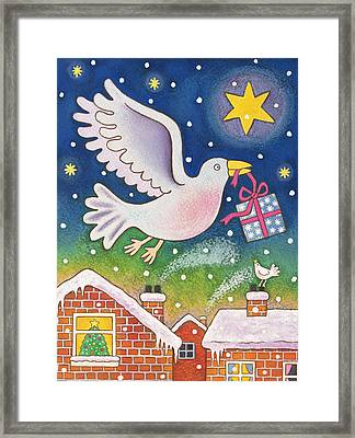 A Present Of Peace Framed Print by Cathy Baxter
