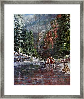 A Prospector's Pan Framed Print by Harvie Brown