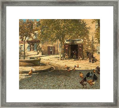 A Provencal Forge Framed Print by Henry Herbert La Thangue