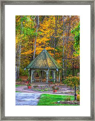 A Quiet Place-fall Time Framed Print by Robert Pearson