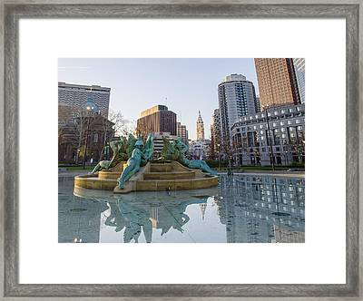 A Quiet Time In Philadelphia Framed Print by Bill Cannon