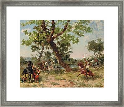 A Raiding Party Framed Print by Georges Washington