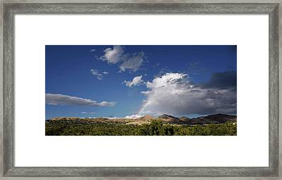 A Rainbow In Salt Lake City Framed Print by Rona Black