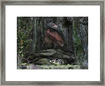 A Rat-sized Purgatorius Hides Framed Print by Walter Myers