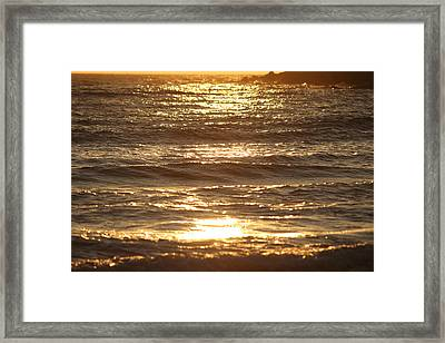 A Ray Of The Sun Lightens The Sea  Framed Print by Samantha Mattiello