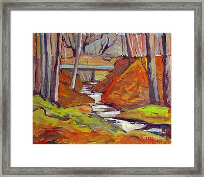 A Red Day For Blue Framed Print by Charlie Spear