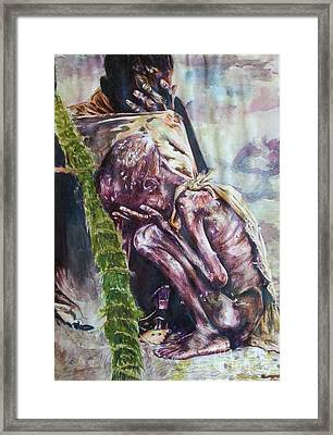 A Reflection On Human Suffering Framed Print by Michael African Visions