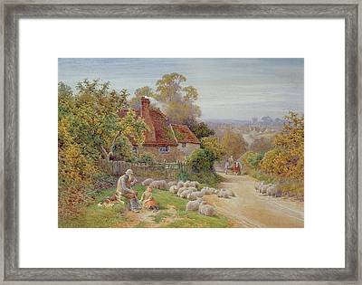 A Rest By The Way Framed Print by Charles James Adams