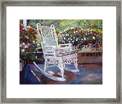 A Rest In The Shade Framed Print by David Lloyd Glover