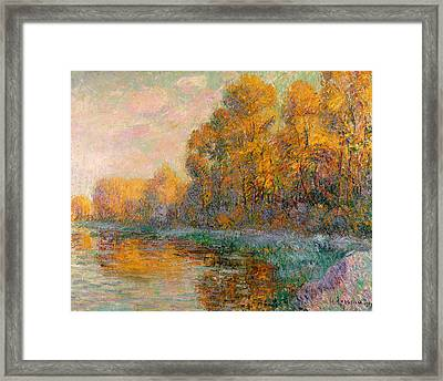 A River In Autumn Framed Print by Gustave Loiseau