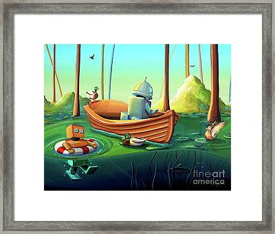 A River Of Curiosity Framed Print by Cindy Thornton