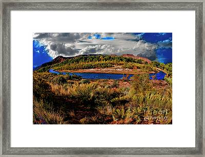 A River Though Zion Framed Print by Blake Richards