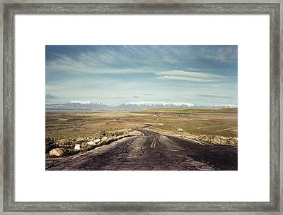 A Road Down Hill Framed Print by Helix Games Photography
