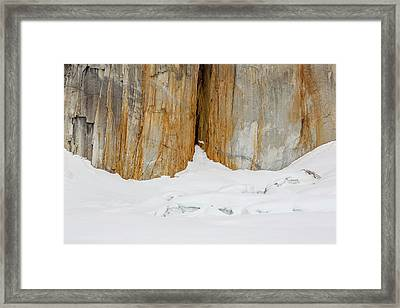 A Rock Fissure On Mt Dickey Framed Print by Tim Grams