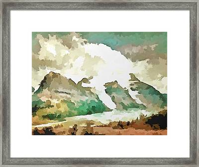 A Rocky Moment Framed Print by Mario Carini