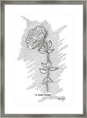 A Rose For Blue Framed Print by Glenn McCarthy Art and Photography