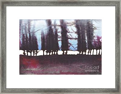 A Row Of Trees Framed Print by Marian Fannon Christian
