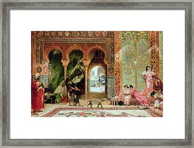 A Royal Palace In Morocco Framed Print by Benjamin Jean Joseph Constant