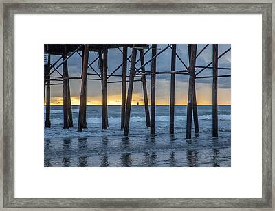 A Sailboat Au Piers Framed Print by Peter Tellone