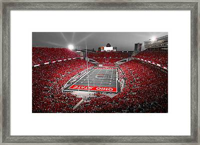A Scarlet Stage Framed Print by Kenneth Krolikowski