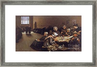A Scene In The Westminster Union Framed Print by Hubert von