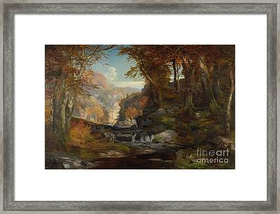 A Scene On The Tohickon Creek Framed Print by Thomas Moran