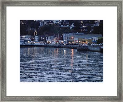 A Scenery Of Sausalito At Dusk Framed Print by Hiroko Sakai