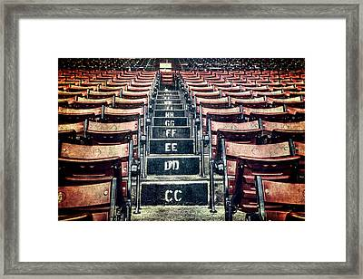 A Sea Of Red - Fenway Park Boston Framed Print by Joann Vitali