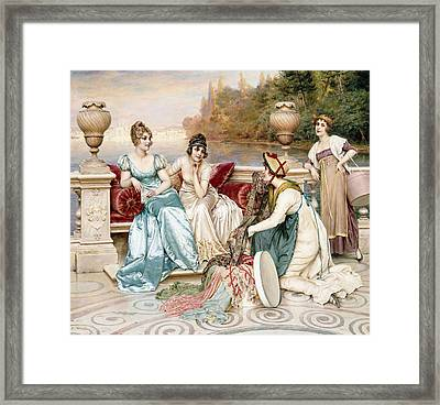 A Selection Of Silk And Satin Framed Print by Joseph Frederic Charles Soulacroix