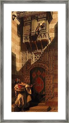 A Serenade In Cairo Framed Print by Carl Haag