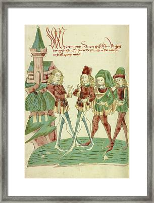 A Servant Before Three Lords Framed Print by Celestial Images